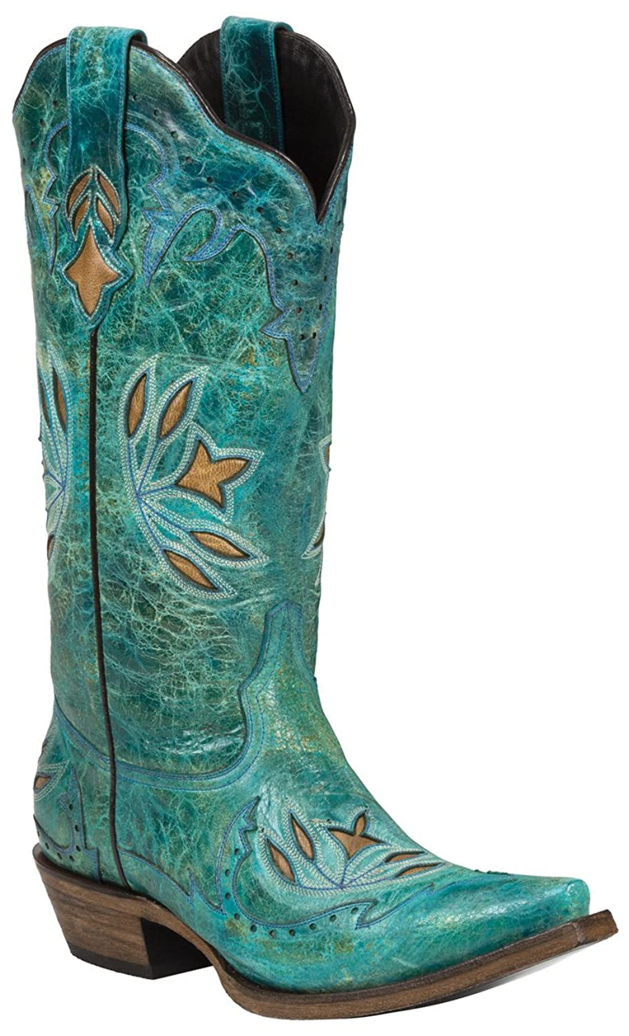 MEDINA (Turquoise) Women's Cowboy Boots