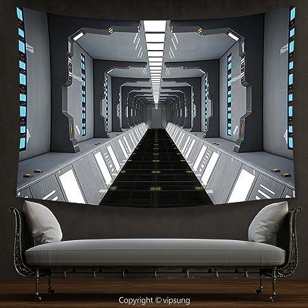 House Decor Tapestry Decor Collection Futuristic Scifi Corridor Interesting Science Lab Furniture Collection