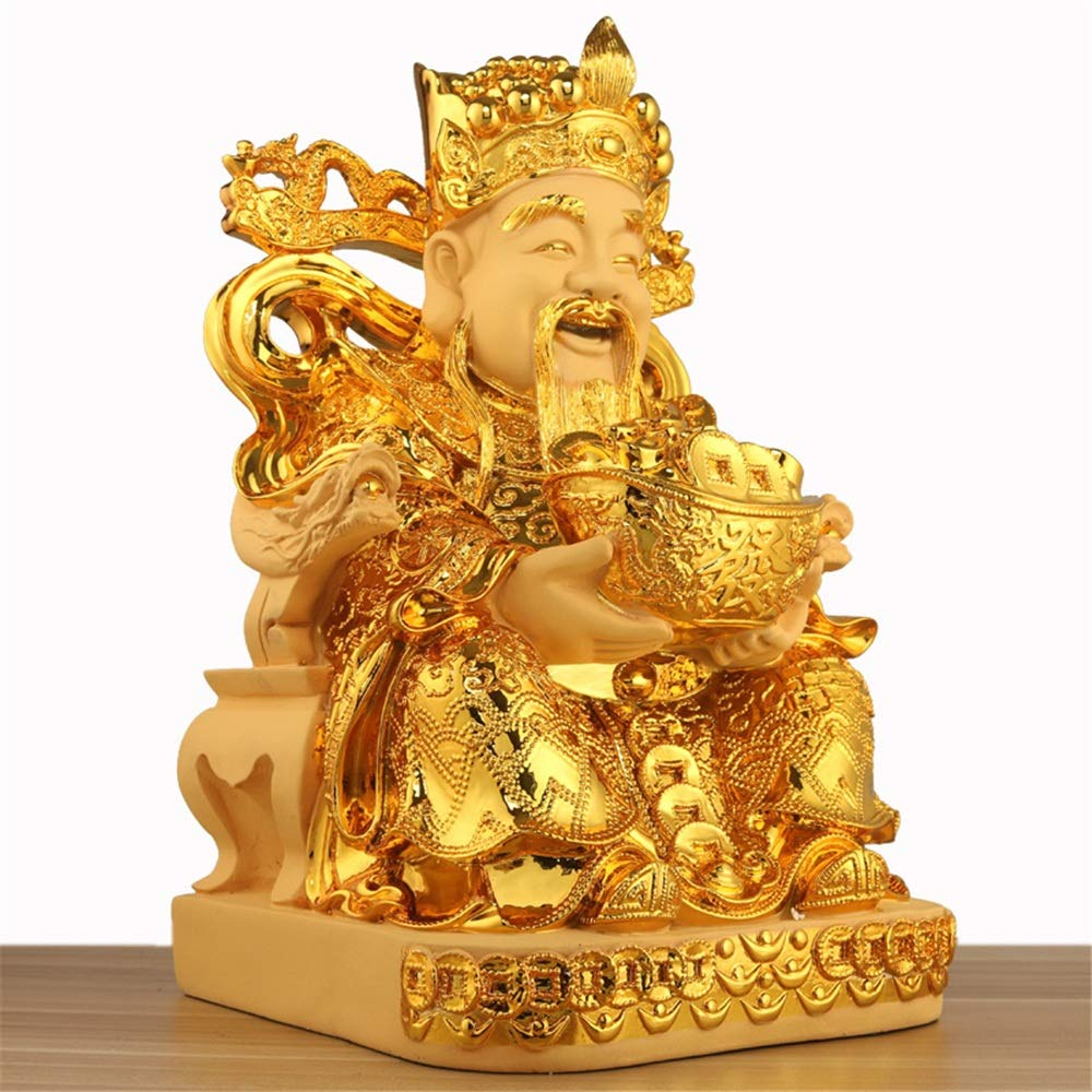 FECTY Golden Fortune Decoration,Rongsha Jinwen Fortune Resin Crafts, Home Decoration (Size : 292546cm)