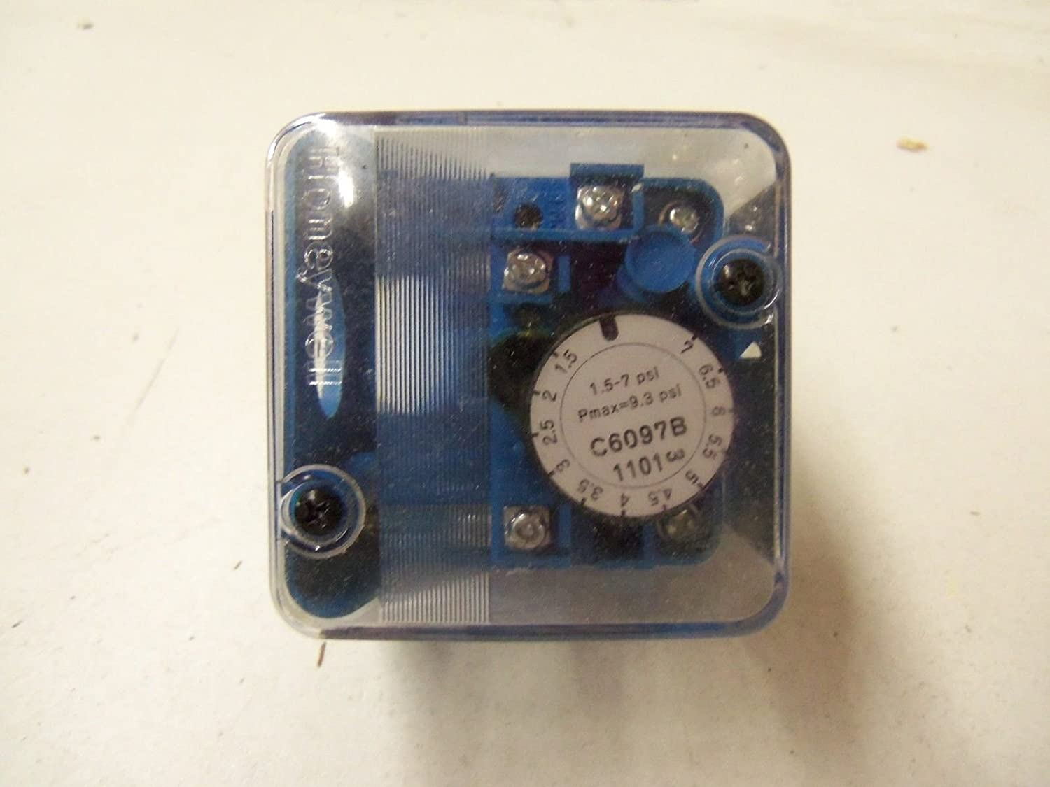 Inc C6097B1101 Pressure Switch Honeywell 1.5 to 7 psi