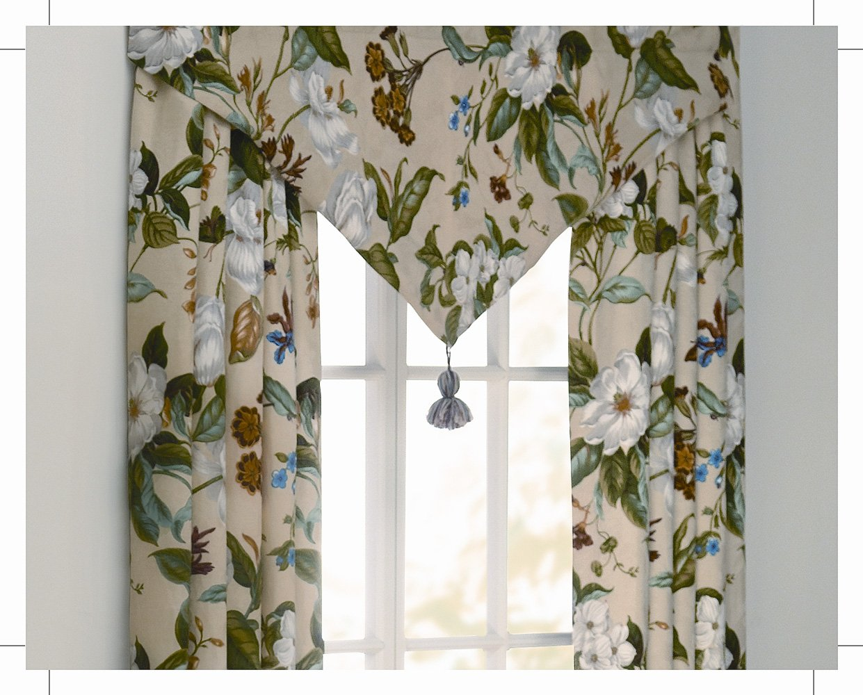 Waverly Garden Images Parchment Ascot Valance by WAVERLY