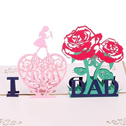 Amazon Paper Spiritz I Love Dad Thank You Card 3d Pop Up