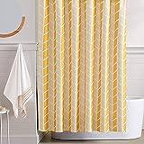 Vangao Yellow Shower Curtains Geometric Arrow Fabric Shower Curtains Set for Bathroom Decor 70 X 72 Inches Waterproof Washabl