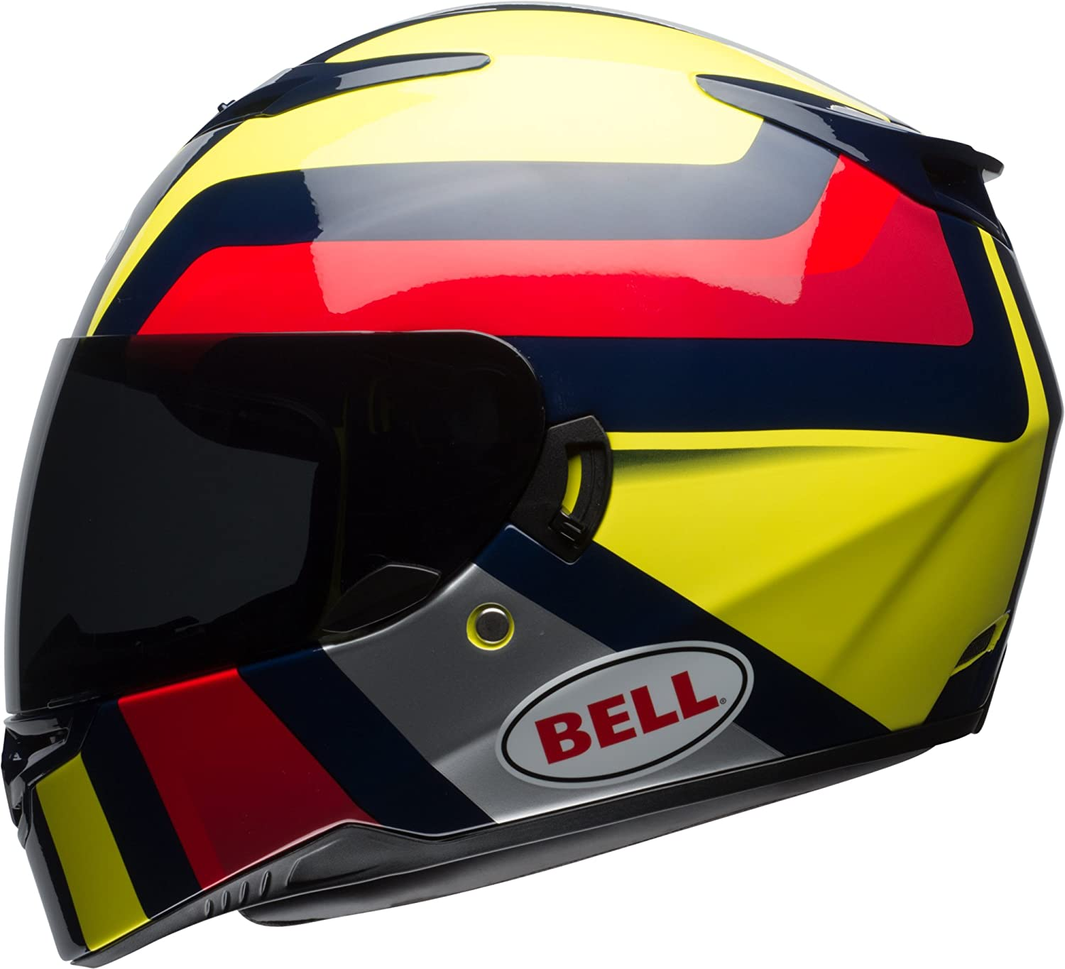 Gloss Hi-Viz Yellow//Navy//Red Empire, Medium Bell RS2 Full-Face Motorcycle Helmet