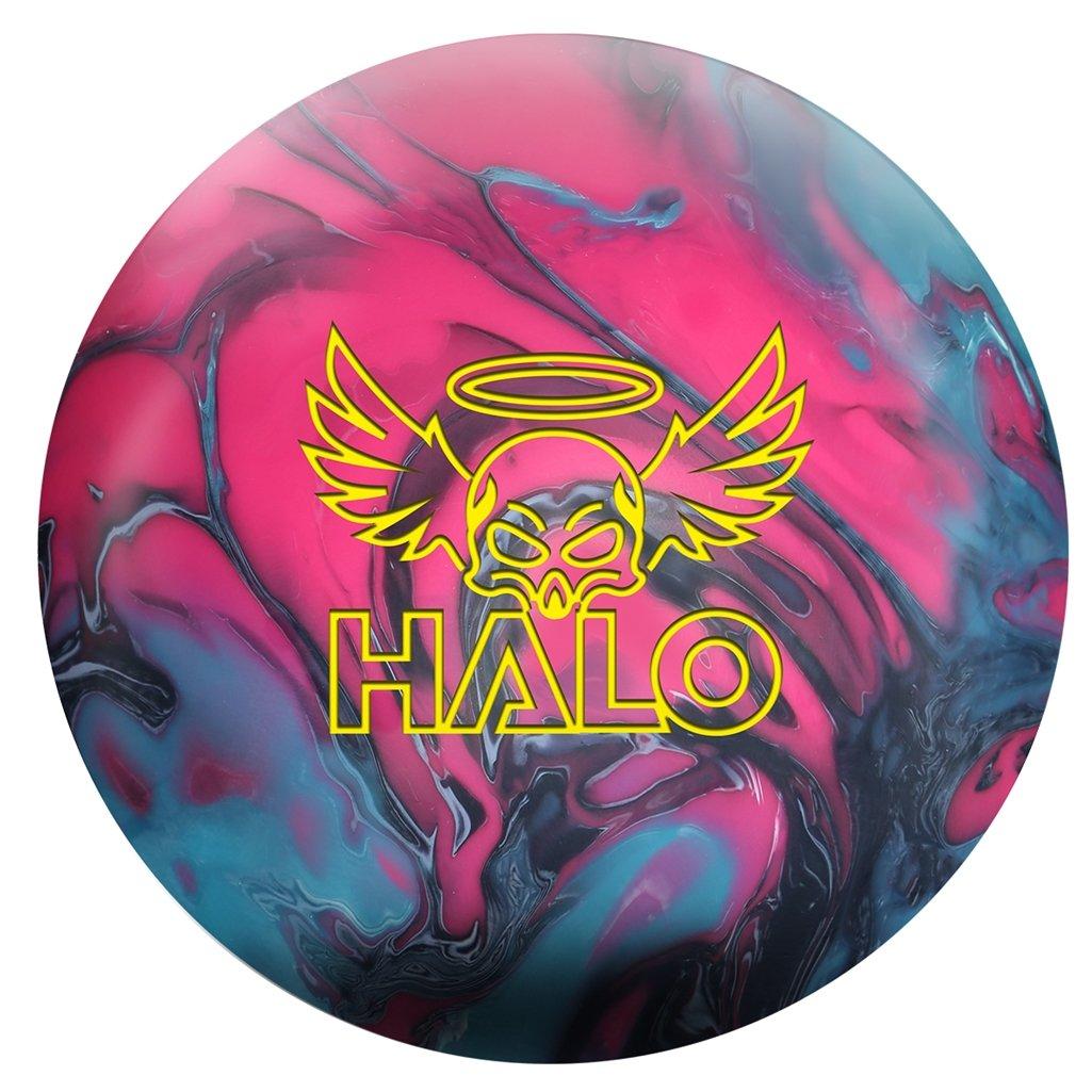Roto-Grip Bowling Halo Ball, Coal/Fuschia/Sky Blue, Size 12