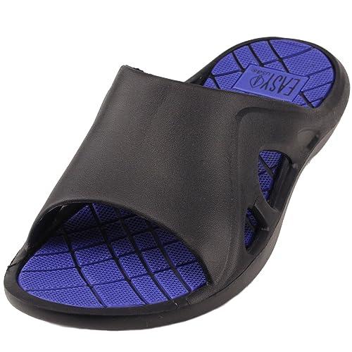 amazon com men s slip on sporty water pool beach slides sandals