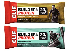 Bulk Buy Multipack Clif Builders Protein Bars - 18-Bar Variety Pack 9 Chocolate Mint, 9 Chocolate Peanut Butter