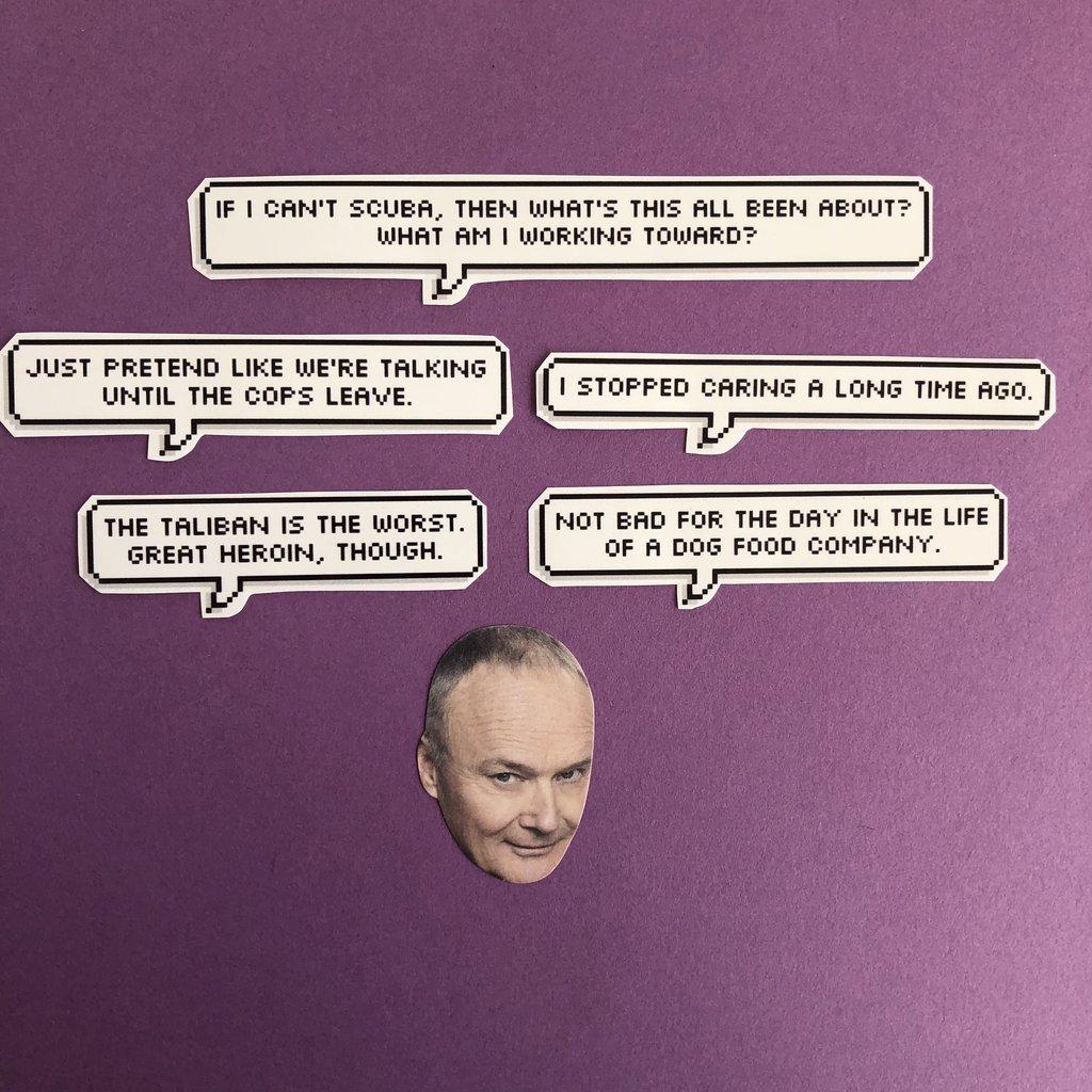 Amazon com: Creed The Office Quotes Sticker Set: Handmade