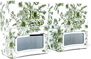 Homeworx by Harry Slatkin Set of 2 Plug in Diffusers (Green Toile)