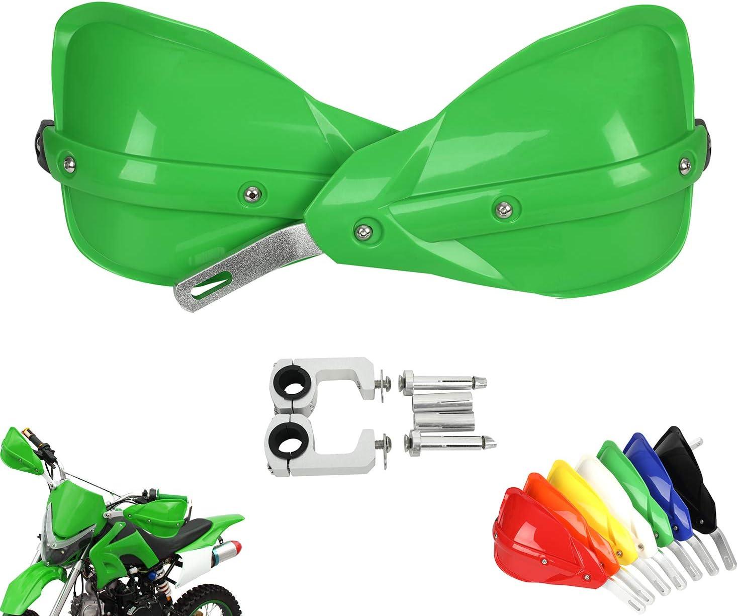 """Green Handguards Hand Guard 7//8/"""" /& 1-1//8/"""" Handlebar For KAWASAKI KX 125 KLX 450"""