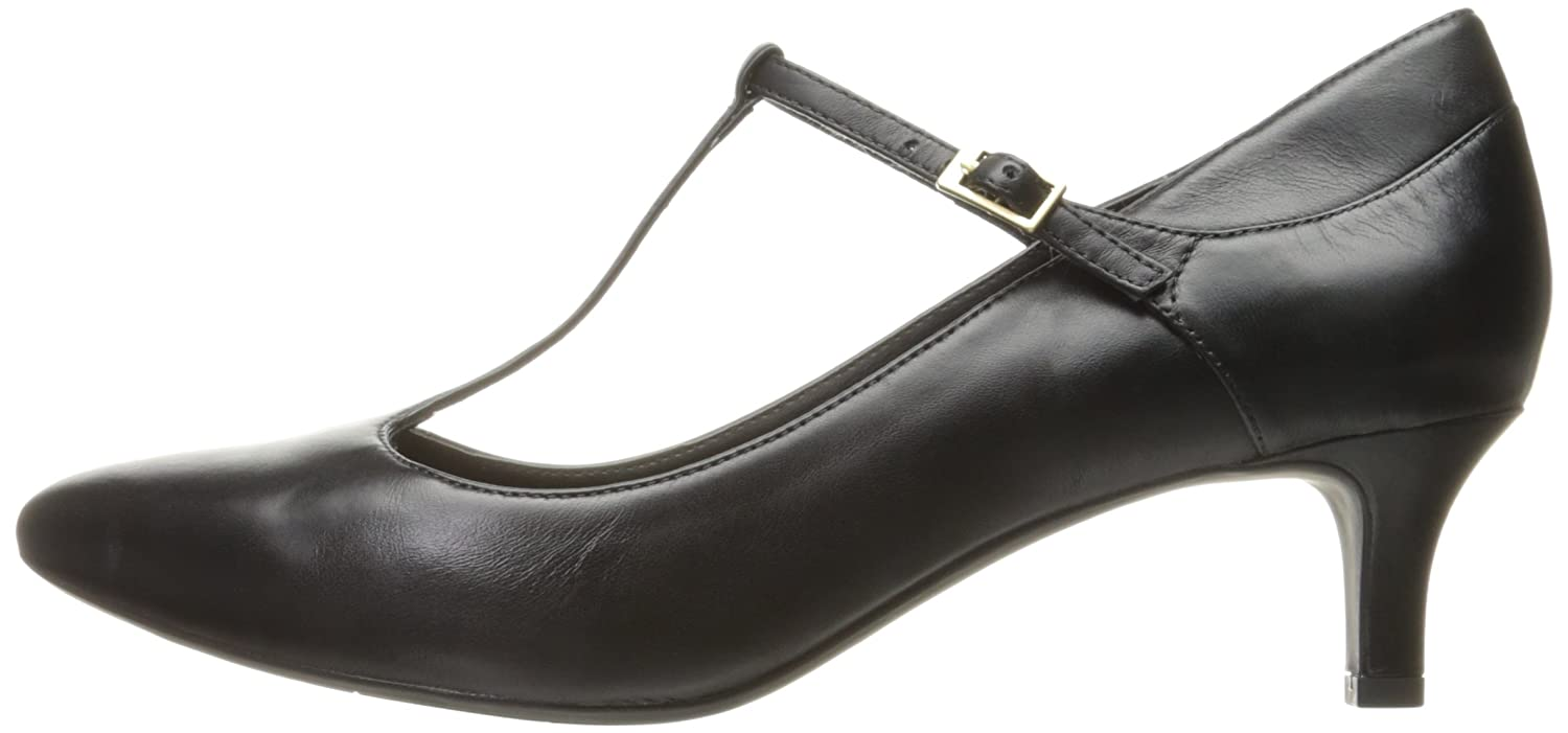 Rockport Women's Total Motion Kalila T-Strap Dress Pump B01ABS1UKO 10 W US|Black Leather