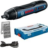 Bosch Professional Sladdlös skruvdragare Bosch GO (inkl. 25-delad bitsats, USB-sladd, L-BOXX Mini) – Amazon Edition