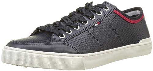 Tommy Hilfiger Core Leather Lace Up Sneaker, Zapatillas para Hombre: Amazon.es: Zapatos y complementos
