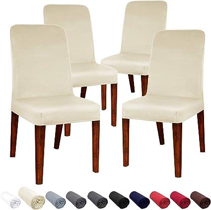 Confezione da 6/coprisedia elasticizzati feste ristoranti lavabili e removibili per hotel sala da pranzo H