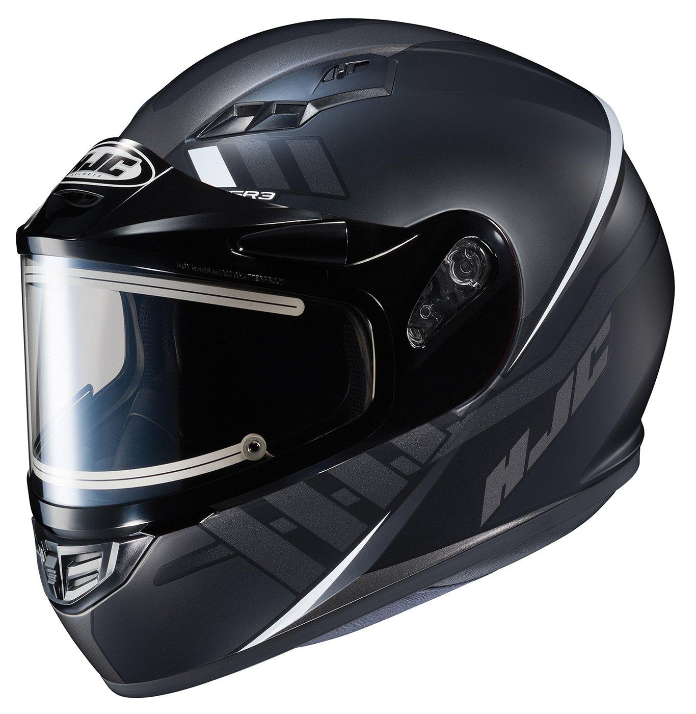 HJC Helmets Unisex-Adult Full-face Style CS-R3 Space Snow Helmet with Electric Shield Black//Orange X-Large 037-775