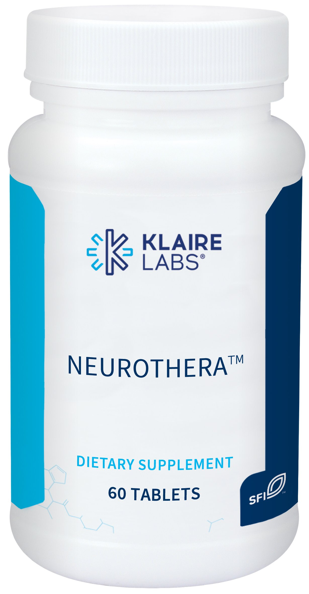 Klaire Labs (ProThera) Neurothera - Brain Support Blend with Phosphatidylserine & Ginkgo (60 Tablets)