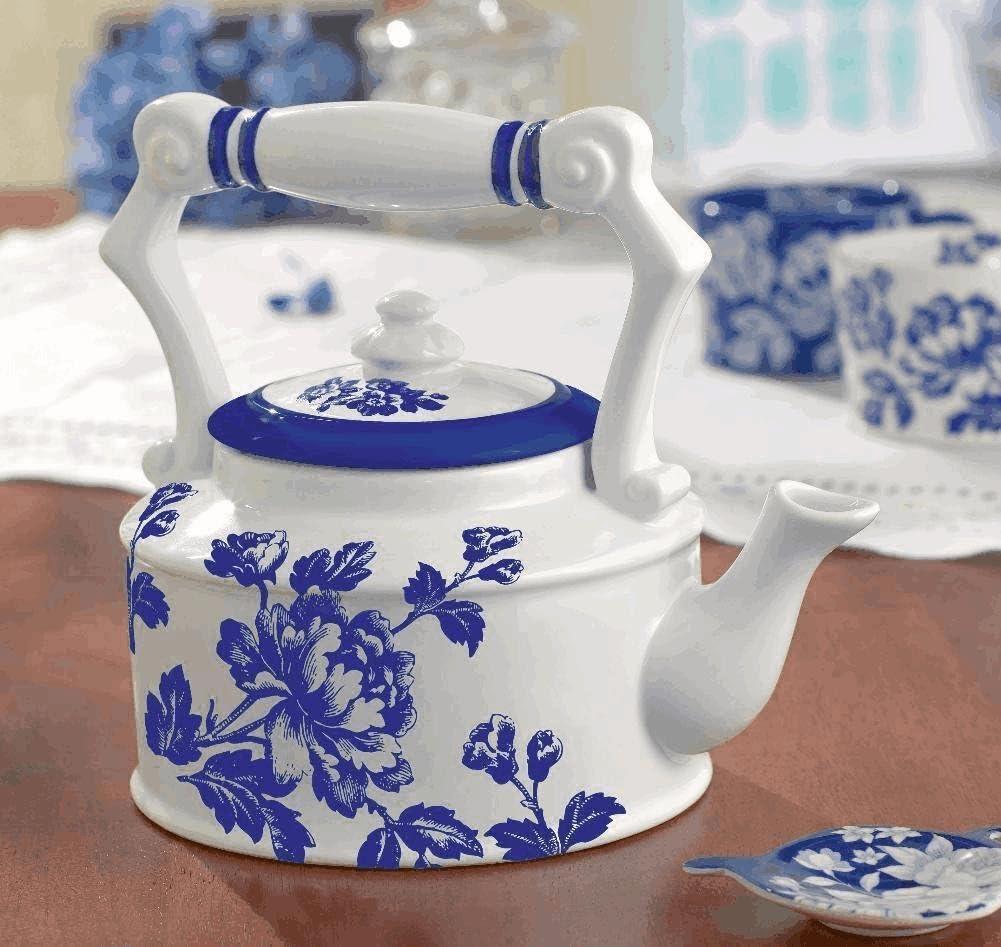 Grasslands Road In The Blue Floral Teapot #41137
