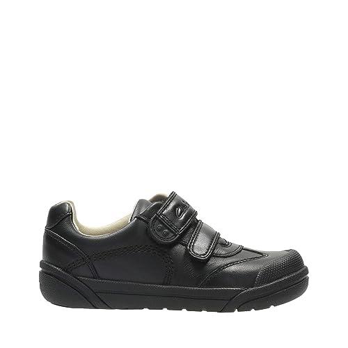 Boys Clarks Hook /& Loop School Shoes Lil Folk Zoo