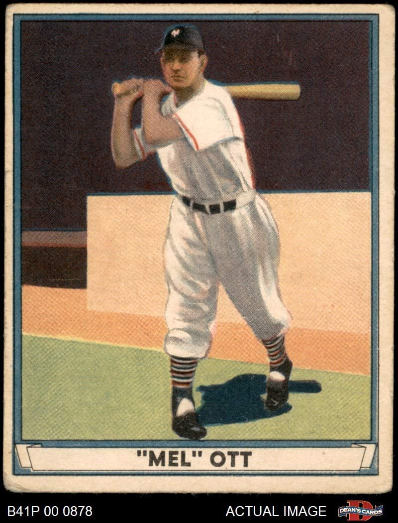 1941 spielen Ball # 8 Mel Ott neu York Giants (Baseball Card) Dean's Cards 3 - VG Giants