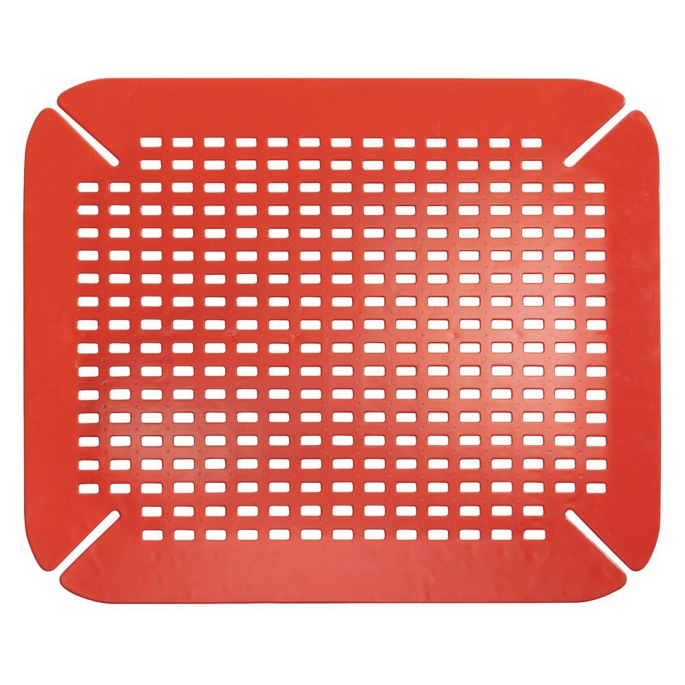 InterDesign Basic Sink Mat, Sink Protector Ideal for Drying Dishes, Made of Durable PVC Plastic, Grey, Large 59063