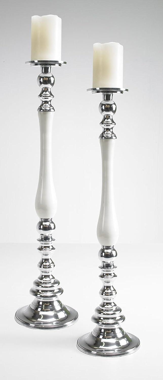 Artra Artra Artra Kerzenständer cremeweiß L 2er SET Kerzenhalter Kerzenleuchter Bodenkerzenständer Kerzenleuchter Tischdeko Gastgeschenke 1c69cd