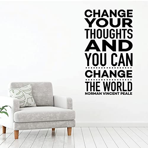 Image Unavailable. Image Not Available For. Color: Change Your Thoughts    Motivational Wall Decal ...