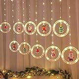 Mojoyce Cordão de luzes LED estrelas, enfeite de árvore de janela de Natal com luz branca quente USB, suprimentos de decoraçã