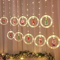 Mojoyce Cordão de luzes LED estrelas, enfeite de árvore de janela de Natal com luz branca quente USB, suprimentos de…
