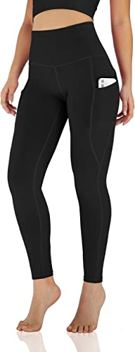 ODODOS Women's High Waisted Yoga Leggings with Pocket, Workout Sports Running Athletic Pants with Pocket