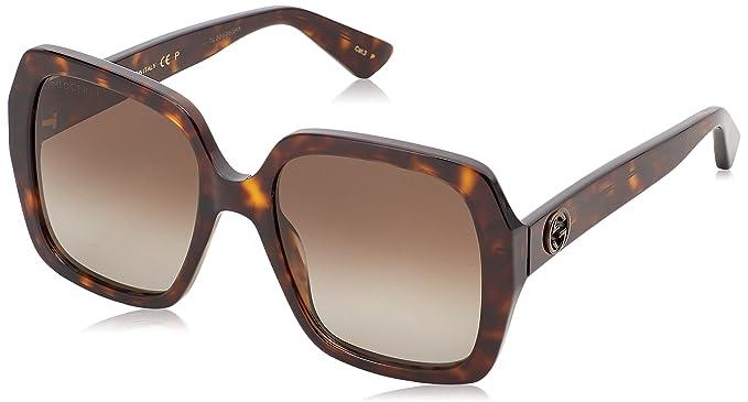 Gucci GG0096S 006, Gafas de sol para Mujer, Marrón (Avana ...