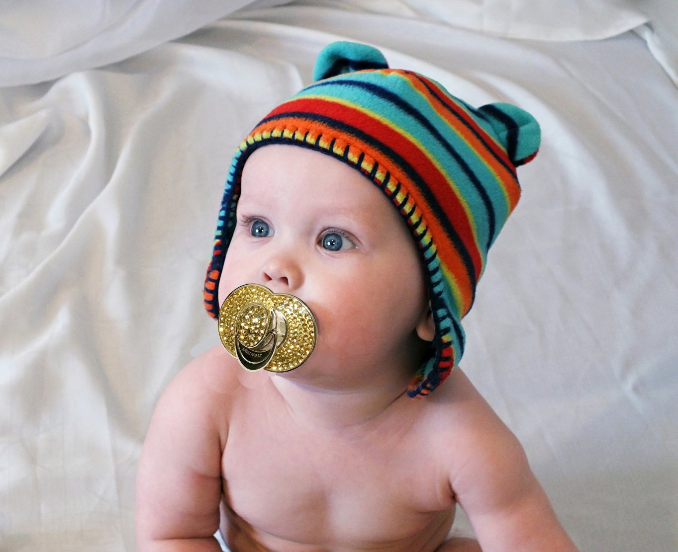 Amazon.com : Keepsake Platinum Pacifier Encrusted with Gold ...