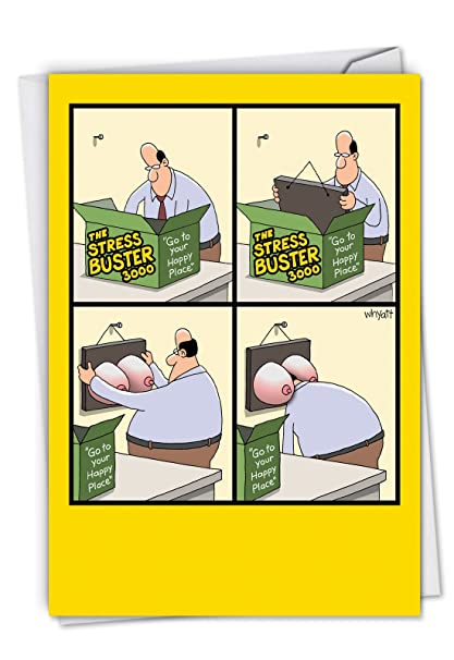 Amazon Stress Buster Funny Birthday Greeting Card See A