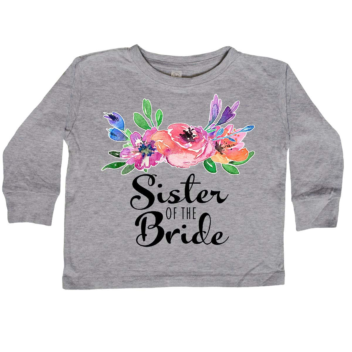 inktastic Sister of The Bride with Bouquet Toddler Long Sleeve T-Shirt