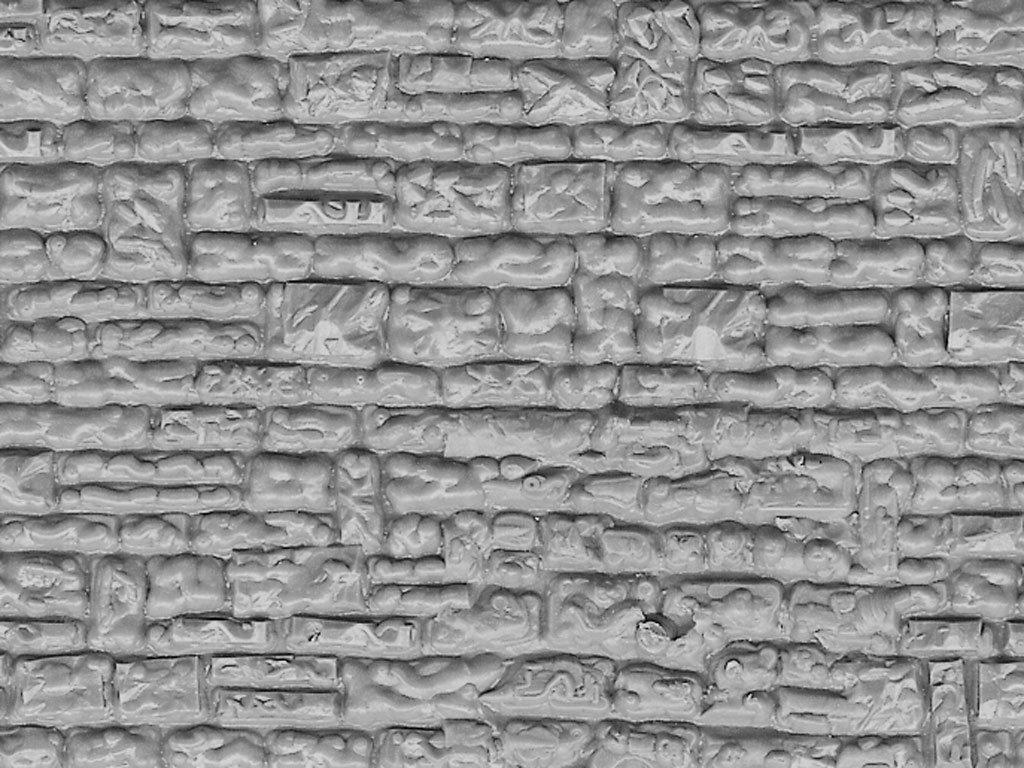 6031 Mauerwerkplatte Haustein Vollmer H0