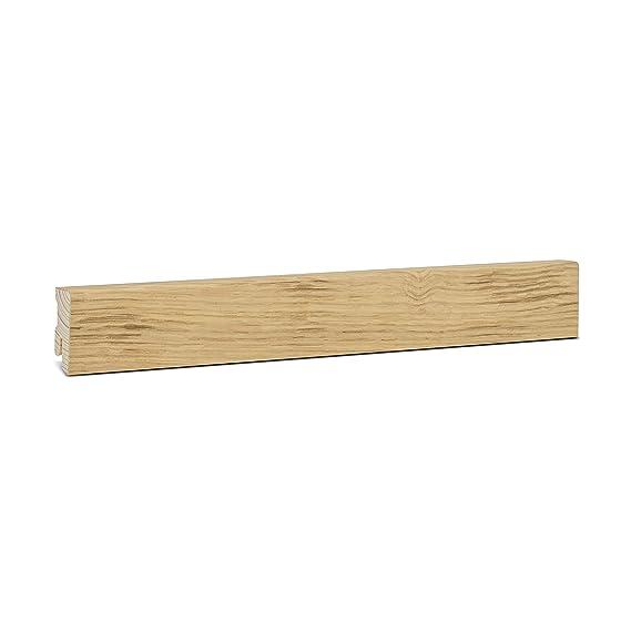 Holzleisten Eiche 16x40x2500mm KGM Sockelleiste Eiche Echtholz Fu/ßleiste 40mm Modern ✓Echtholz Fichte Tr/äger ✓Furnier Holz Oberfl/äche ✓Parkettleiste Laminat /& Parkett