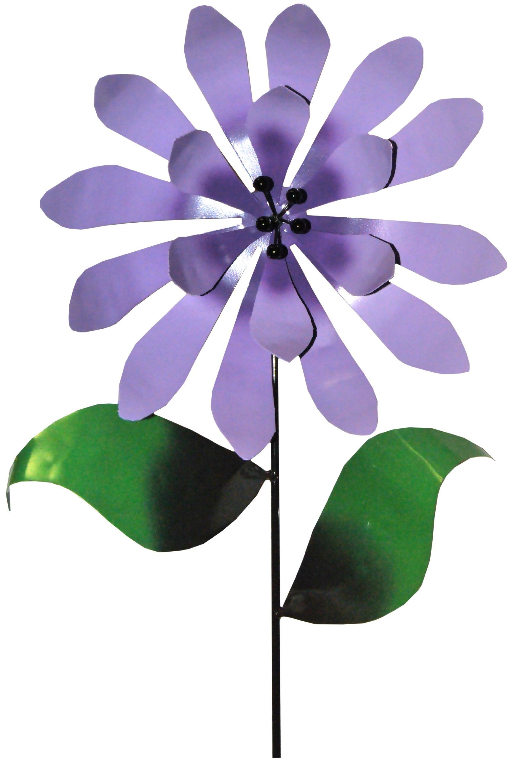Steven Cooper Metalsmith AFLWR-08-XL Artificial Garden Flower on Footed Stake, 6-Feet, Lavender