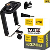 Taslar Tripod Monopod Mount Adapter For Mobile Phone, Smartphones With Universal Mobile Holder & Long Screw Accessory - Black
