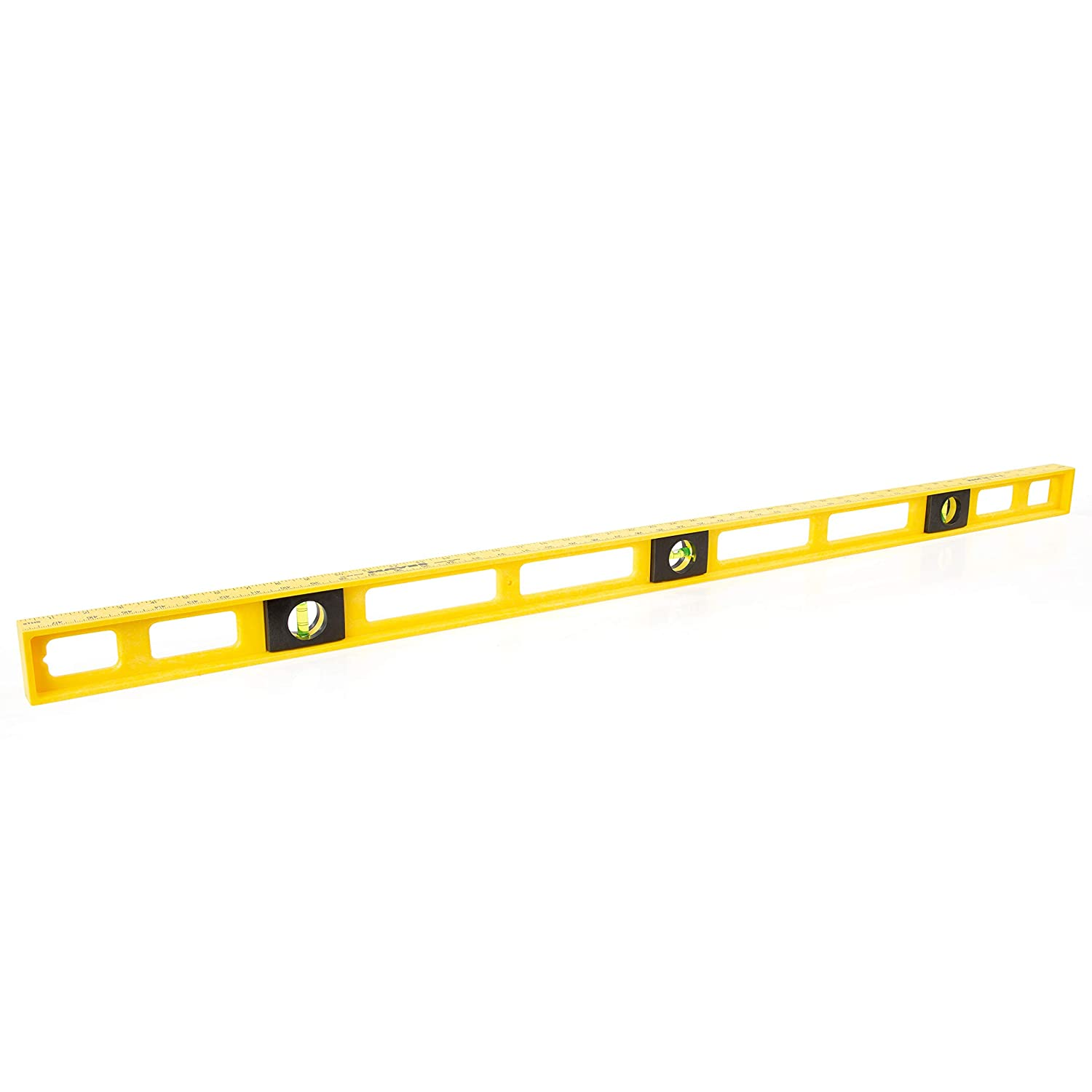 B000CFNDYI Mayes 10102 48 Inch Polystyrene Level | Carpenter, Contractor, and Plumber Tool | Impact Resistant Frame | Three Vials, Accurate to .001 Inch | Won't Scratch Work Surfaces | Made in the USA 71fPvmX4G5L
