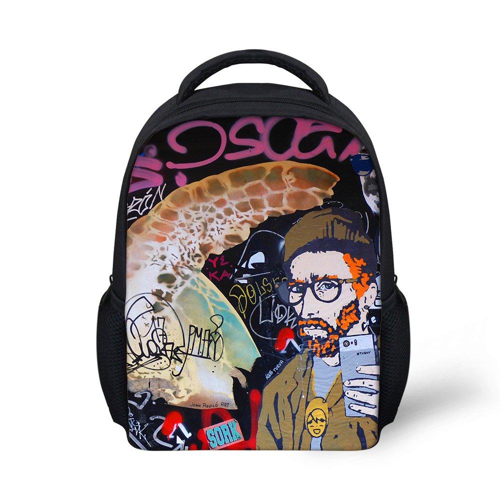 Hoijay Preschool Backpack, Little Kid Backpacks for Boys and Girls Artist's Selfie