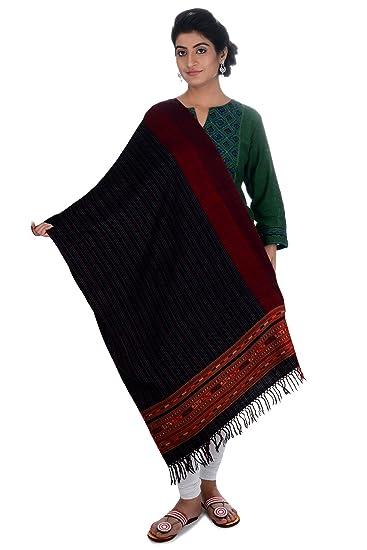 Tribes India Women's Shawl (Black)