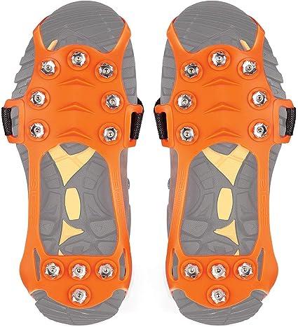 Wirezoll Antid/érapant Traction Crampons en Acier Inoxydable pour Glace et Neige pour Chaussures//Bottes