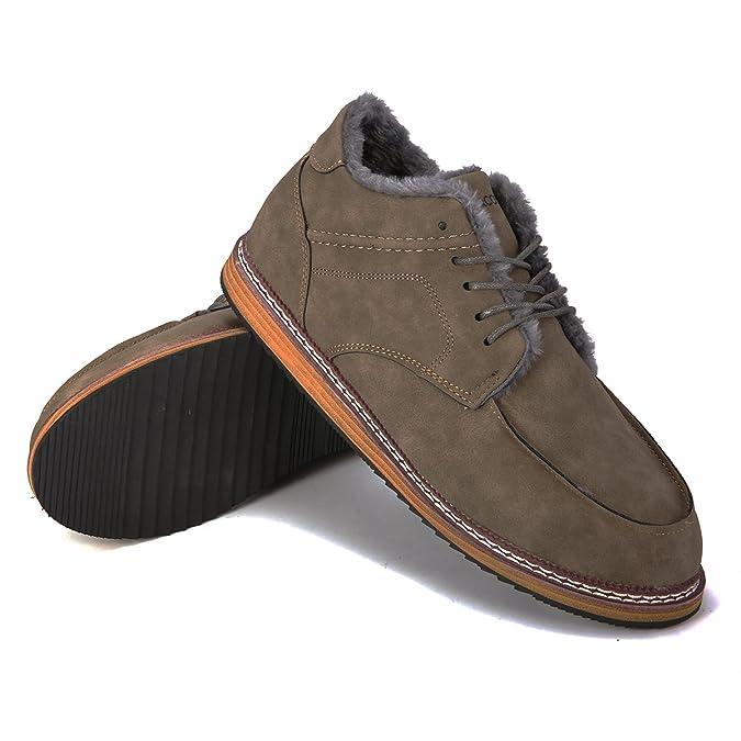 Botas De Hombre Invierno, Gracosy Zapatos Botines de Gamuza Botas de Tobillo Además Terciopelo Cuero Botas Botas Casuales Desierto de Ante: Amazon.es: ...