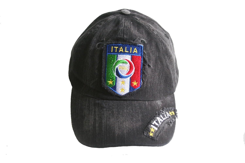 ItaliaイタリアFIGCロゴFIFA Soccer世界Cupエンボス加工帽子キャップ。。Acid Washed。。新しい   B00NMJP6FK