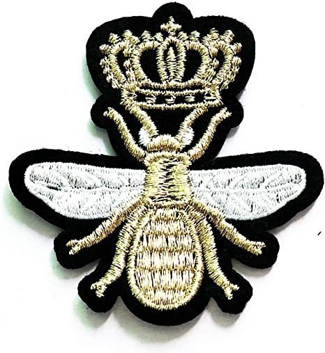 Bee sequins Embroidery Iron on patch sewn For clothing applique backpack Motif