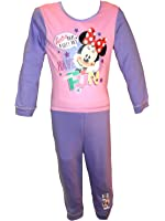 Girls Childrens Official Disney Minnie Mouse Pyjamas PJ Set - Pink Purple Blue - Toddler Size Age 12-18m, 18-24m, 2-4 years