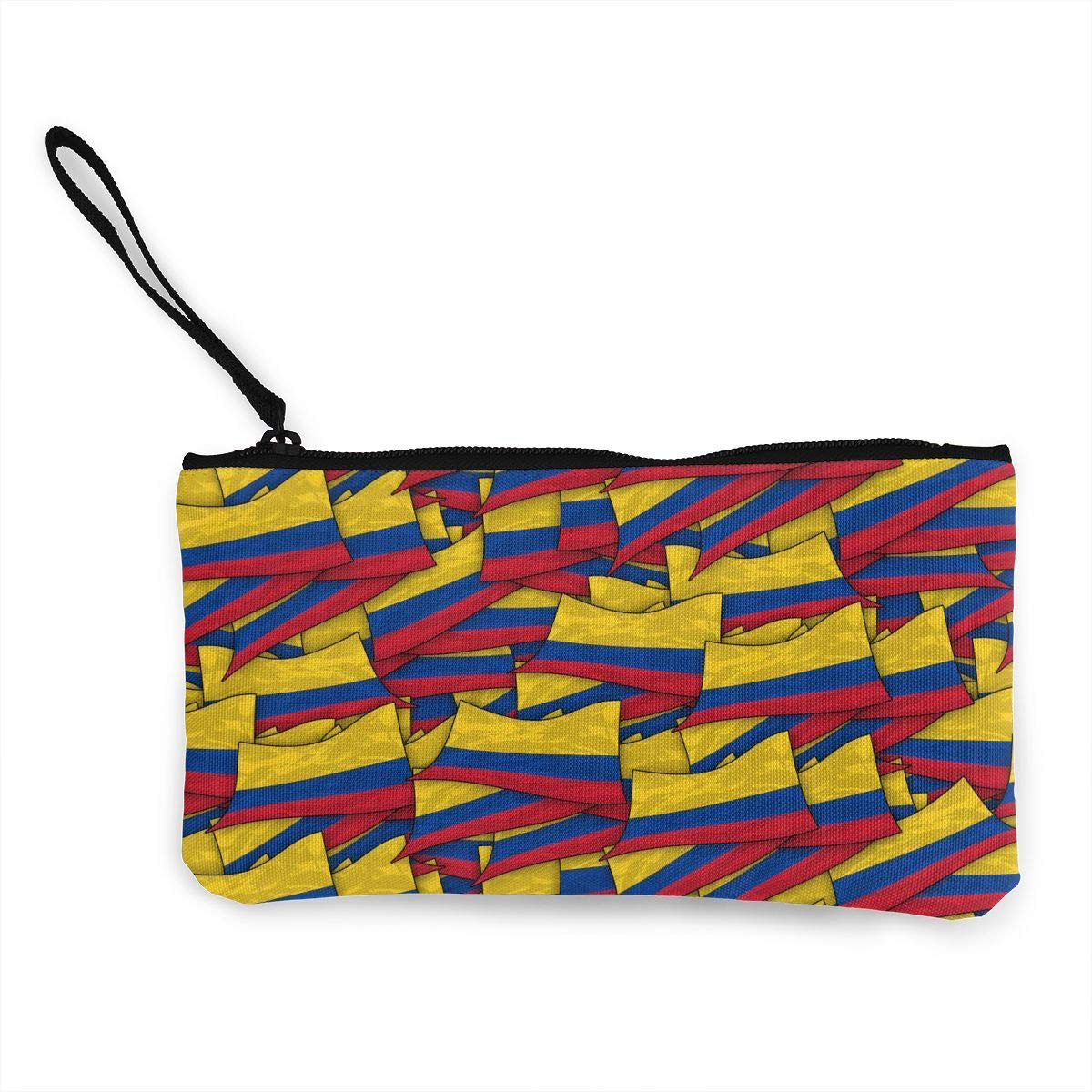 shuangshao liu Unisex Canvas Wristlet Wallet Clutch Purse ...