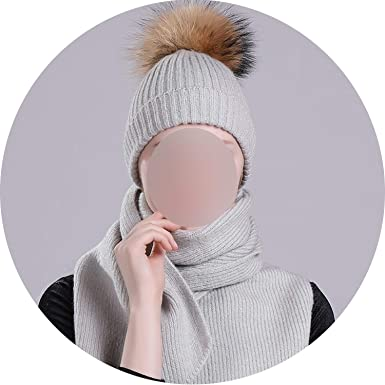 2e9d4ac30b25b Image Unavailable. Image not available for. Color  Winter Hats Scarf Sets  Braided Hat Scarves Fur Pompom ...