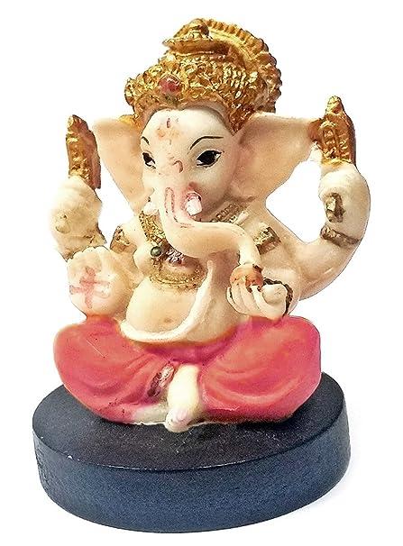 Bellaa 21756 Small Lord Ganesha Hindu Statue Good Luck God Figure