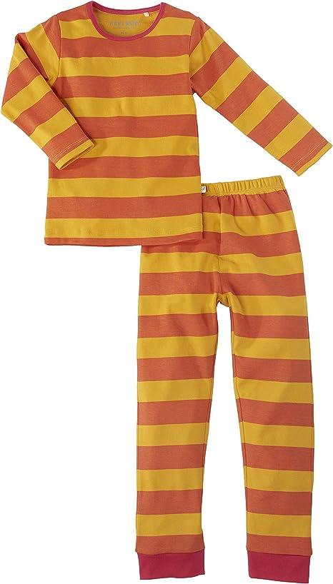 Pijama para niños bio de 2 piezas, 100% algodón orgánico (certificado GOTS) rojo Coral a rayas. Talla:86/92: Amazon.es: Bebé