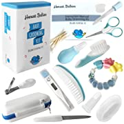Baby Grooming Kit – Complete 12 Piece Set | Deluxe Essential Set | Safe for Babies and Toddlers | Includes: Thermometer, Nail Clipper, Hair Brush, Infant Comb, Nail Files, Scissor, Nasal Aspirator